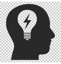 Head Bulb Icon vector