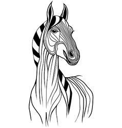 Horse head animal for t-shirt vector image vector image