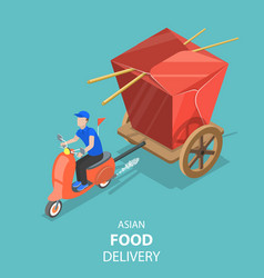 isometric flat concept asian food vector image