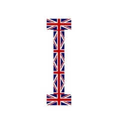 Letter I made from United Kingdom flags vector image
