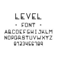 level font alphabet vector image