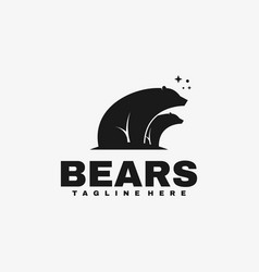 logo bears silhouette style vector image