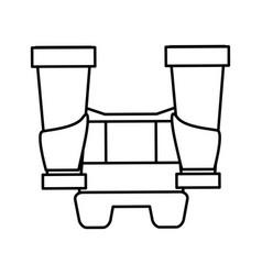 Long range binoculars icon image vector