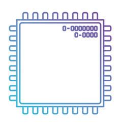 microchip closeup icon in color gradient vector image