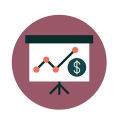 mobile banking presentation board report vector image