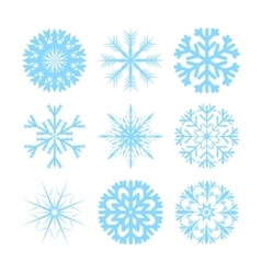 modern snowflakes flat icons set vector image