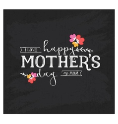 Mothers Day Design Element for Greeting Card vector image