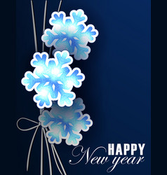 New year postcard template vector