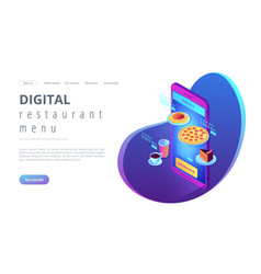 online order isometric 3d landing page vector image