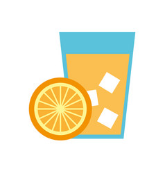 Orange tropical fruit beverage vector