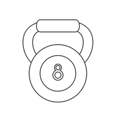 Outline kettlebell weight fitness gym icon vector