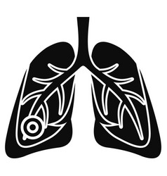 pneumonia lungs icon simple style vector image