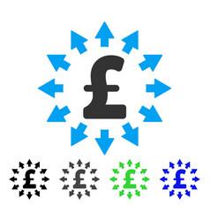 Pound distribution flat icon vector