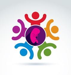 Pregnancy and abortion idea baby embryo symbol vector image