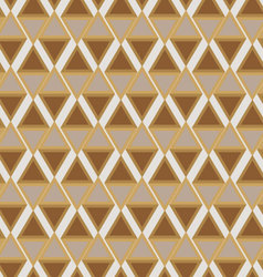 Seamless ornament diamonds gold color vector