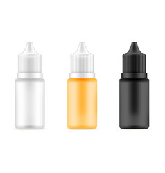 Set of bottles with different colors vector