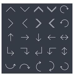 Set of linear arrow vector image