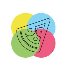 slice of pizza - fast italian food icon vector image