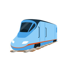Speed modern blue train locomotive vector