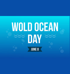 Style banner world ocean day collection vector