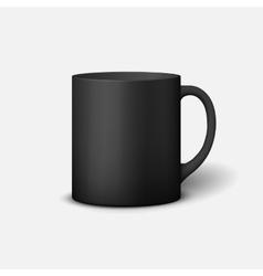Template ceramic clean mug vector