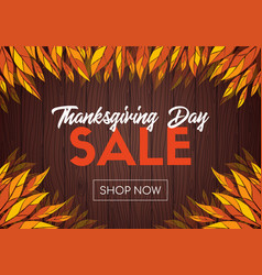 Thanksgiving day sale online shop template vector