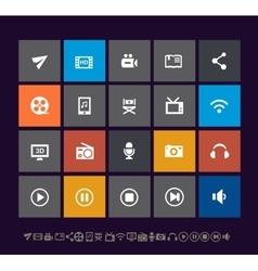 Trendy metro multimedia icons vector image