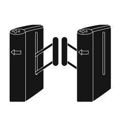turnstile single icon in black styleturnstile vector image