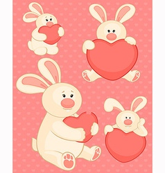 Valentines bear vector image