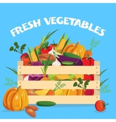 Vegetables Colored Composition vector image