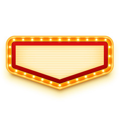vintage marquee sign with glowing bulbs wall vector image