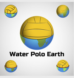 water polo earth logo for team and cup vector image