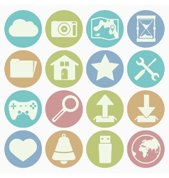 White icons web vector