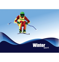 Winter sports skiing vector image