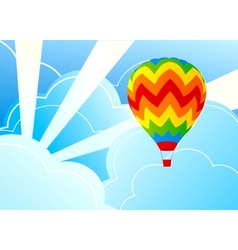 wits air balloon and blue sky vector image