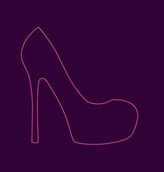 Womens high heel shoe vector