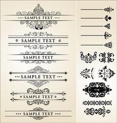 calligraphy designs vector image vector image