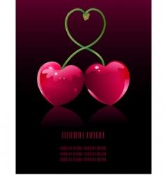 cherry love vector image vector image