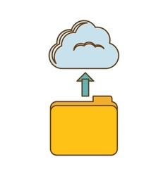 Database storage icon image design vector