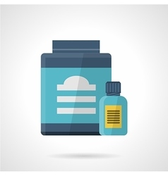 Flat color style icon for sport supplements vector image vector image