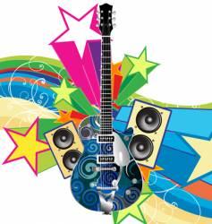 funky guitar vector image