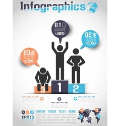 INFOGRAPHICS MODERN BUSINESS BUBBLE ICON MAN STYLE vector image
