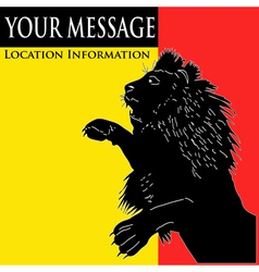 lion message vector image vector image