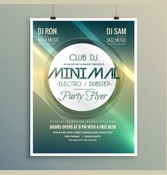 minimal club music flyer brochure template in vector image vector image