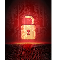 opened padlock vector image