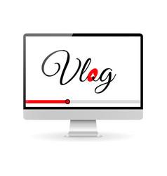 vlog video blogging concept vector image vector image