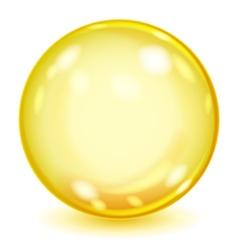 Big yellow opaque glass sphere vector