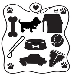 Dog Stuff Silhouettes vector image vector image
