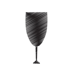 pictogram cup glass drink beverage vector image