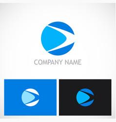 round abstract loop company logo vector image
